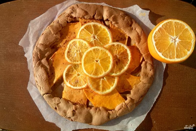 Тыквенный пирог с апельсином рецепт с фото