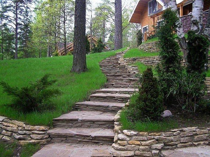садовые лестницы на дачном участке фото что лечением сухих