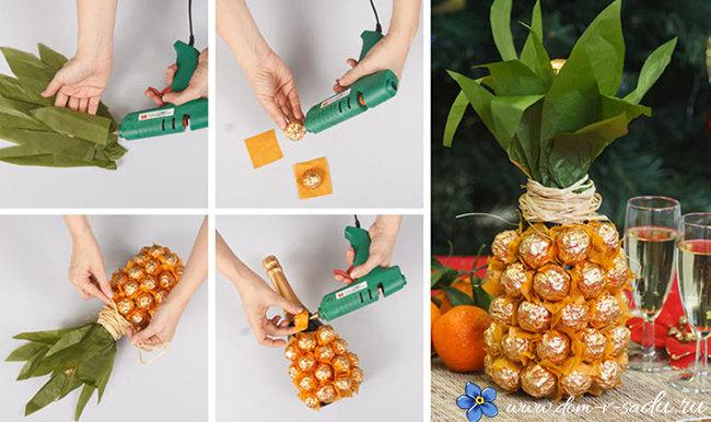 Поделка ананаса своими руками