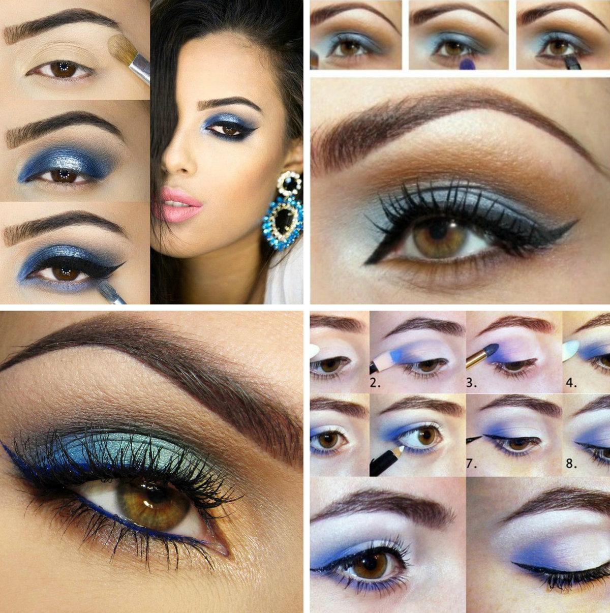 пошаговый макияж для карих глаз с картинками показаться, что богатым