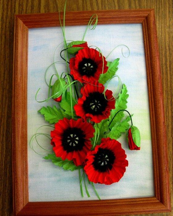 Картина из цветов своими руками из бумаги