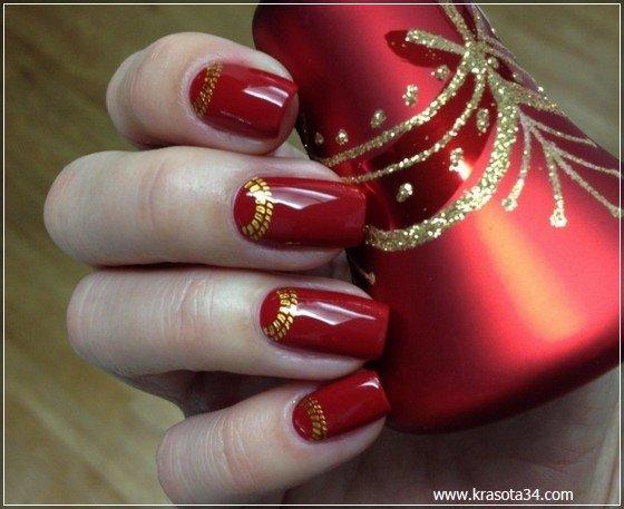 Зимний Рисунок На Короткие Ногти