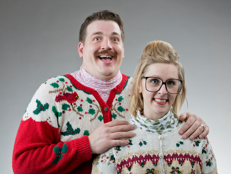 The 12 Tips Of Christmas My Vendor Gave To Me: AdRoll APAC Managing Director ugly christmas sweater party couple