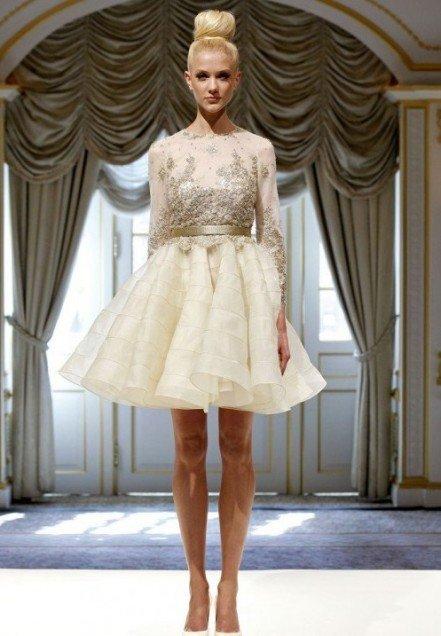 Платья со стразами и длинным рукавом