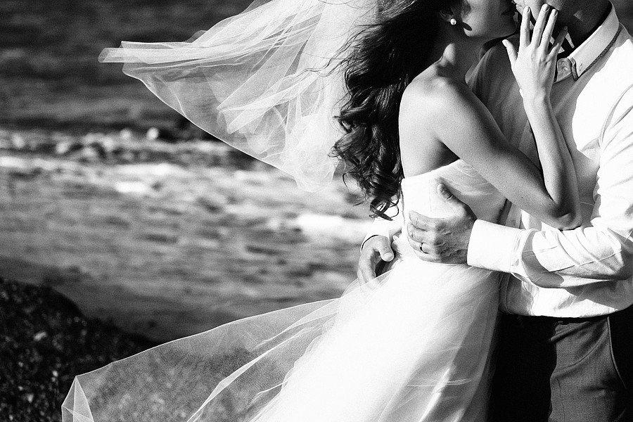 Черно белые фото невест этом голове