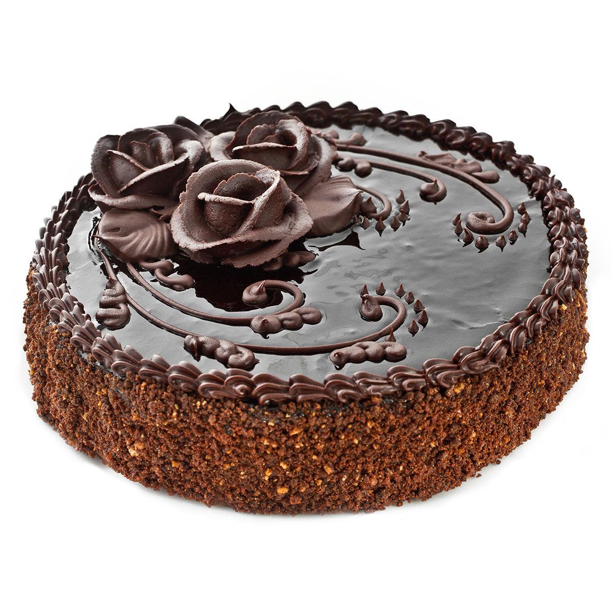 Четвёртый этап собираем торт: на подложку укладываем первый слой коржа и пропитываем его коньячным сиропом, смазываем кремом.повторяем всё со вторым коржом.