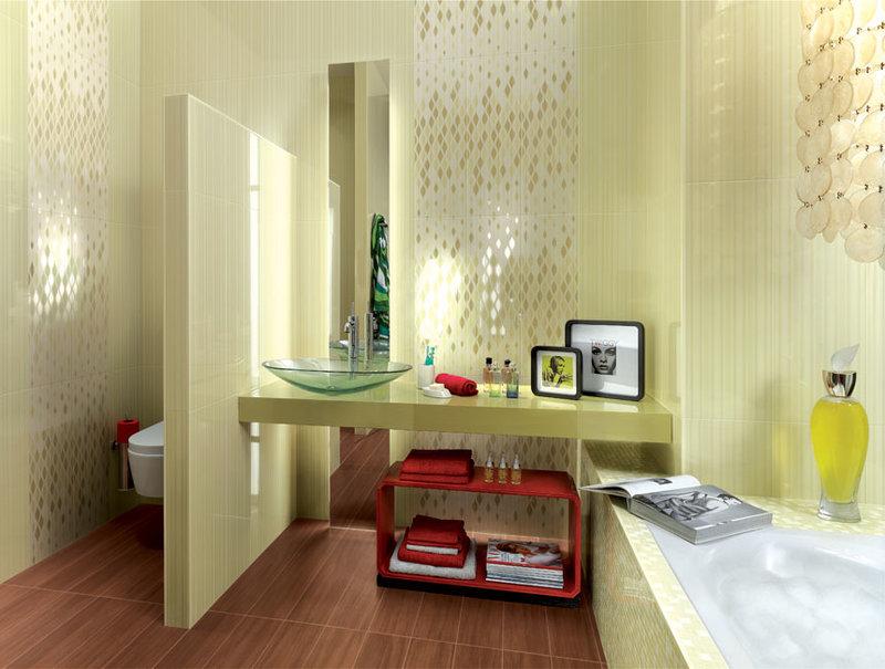 Керамическая плитка для ванной комнаты. Дизайн ванной комнаты. Цветовые решения и образцы кафельной плитки.