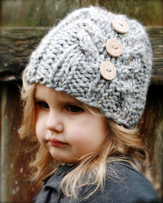 детям фото вязаные шапки