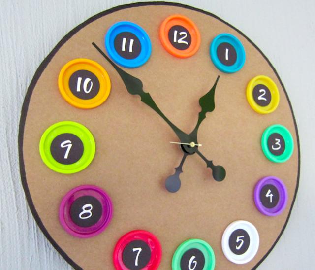 Часы своими руками в школе из картона
