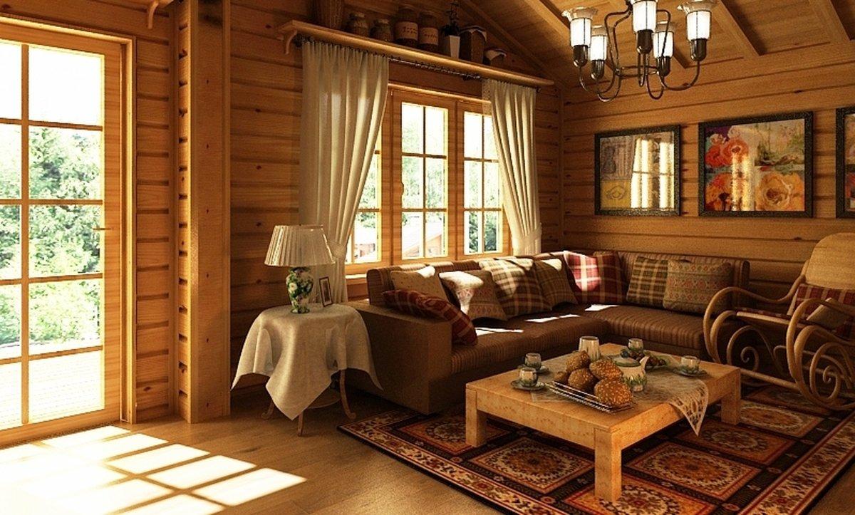 дизайн гостиной в бане
