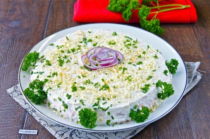 салат с рыбой красной рыбой простой и быстрый