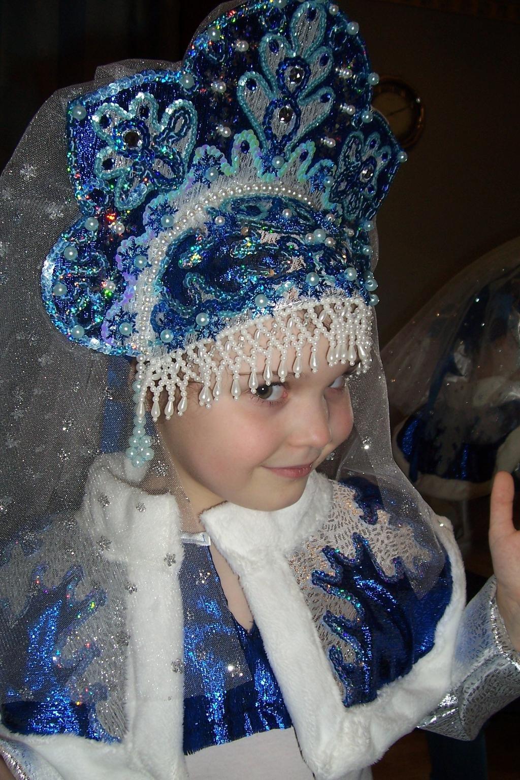 Кокошник на новый год для девочки своими руками