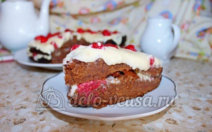 шоколадный торт с малиной рецепт с фото