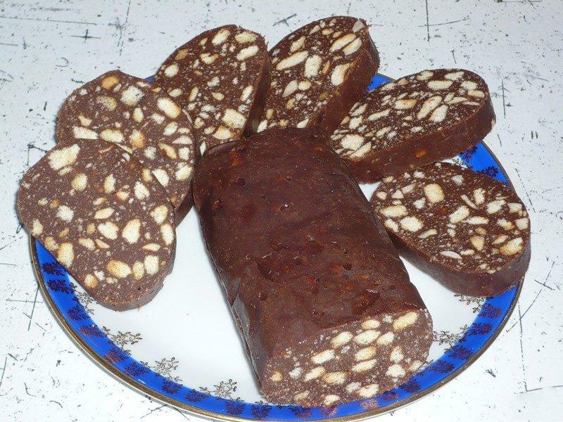 сливочная колбаска с печеньем рецепт с фото