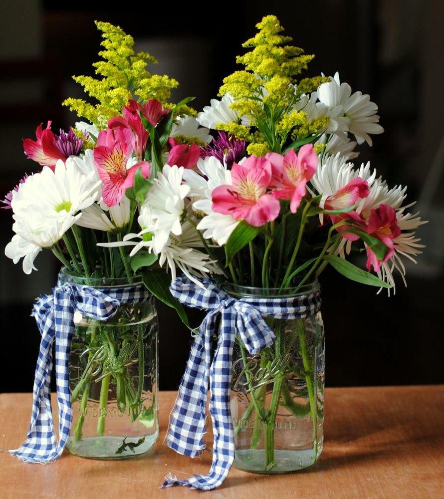 Цветы, флористика, скромный букет цветов фото