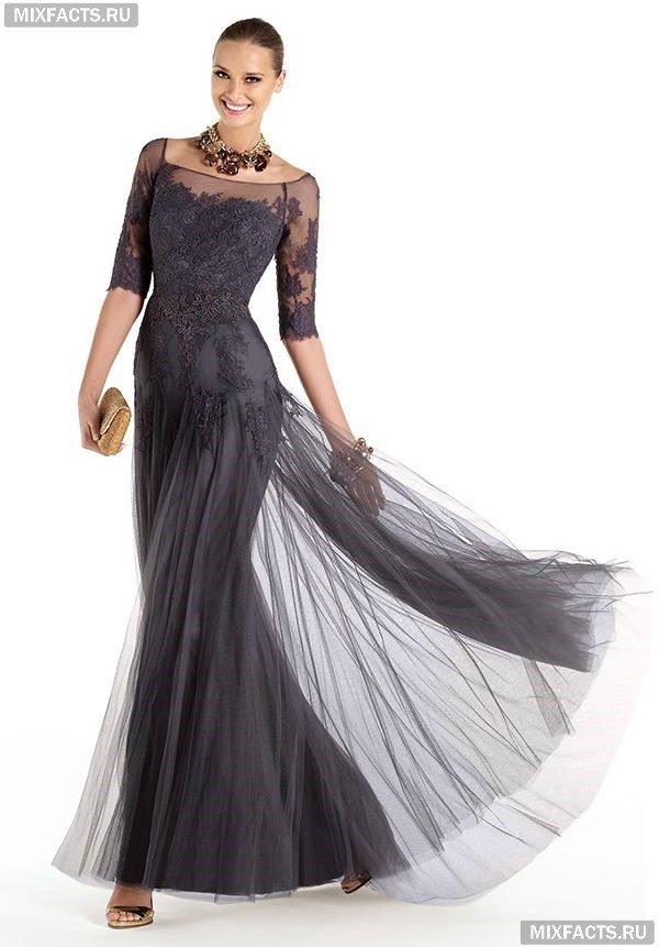 Образы в длинных платьях вечерних
