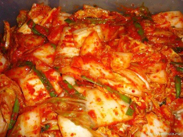 Острая корейская капуста кимчи