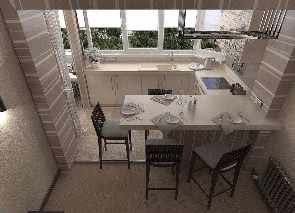 """Балкон совмещённый с кухней"""" - карточка пользователя наталья."""