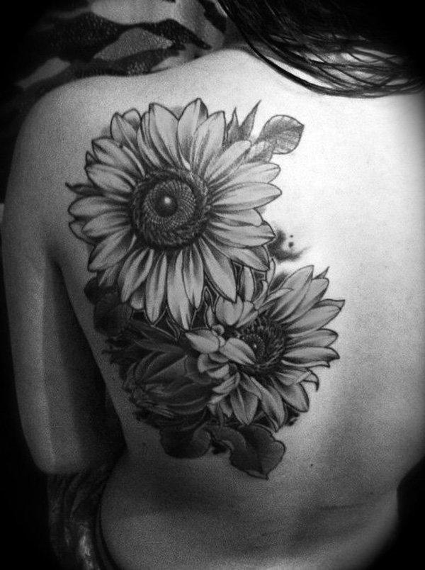 sunflower tattoo images - 600×804