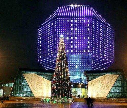 Национальная библиотека - Минск Новогодний