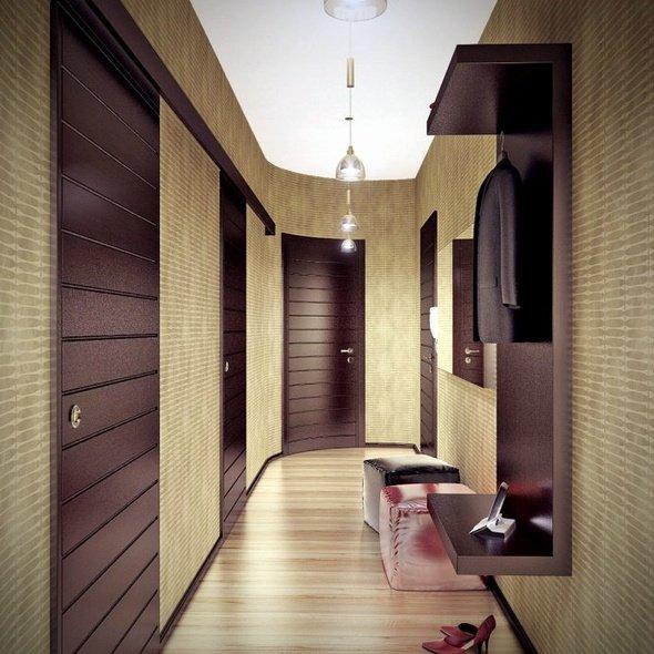 Чтобы не быть похожим на длинный коридор с множеством дверей, интерьер узкой прихожей должен быть правильно освещен и хорошо зонирован
