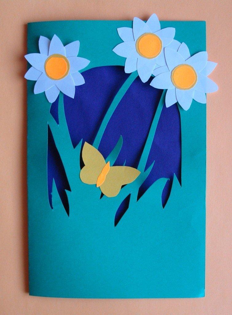 Необычная открытка к 8 марта своими руками начальная школа с шаблонами