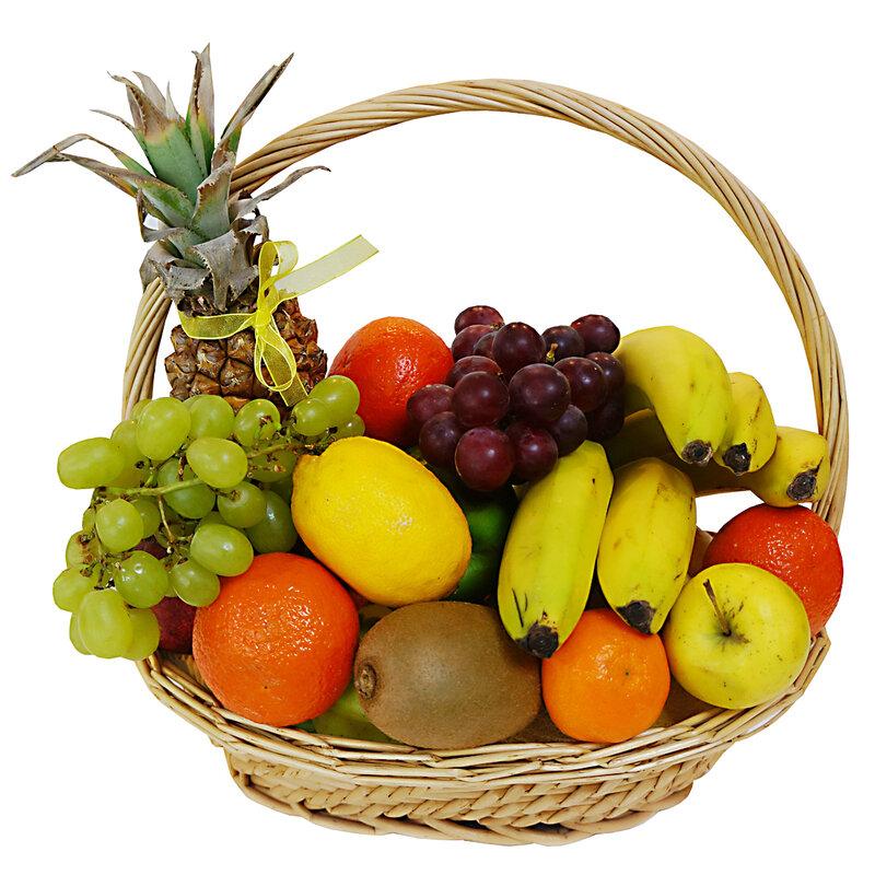 Картинки фрукты в корзинке