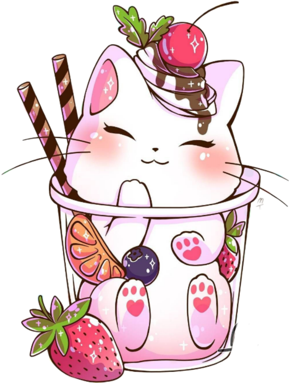 Картинки напитков и котиков