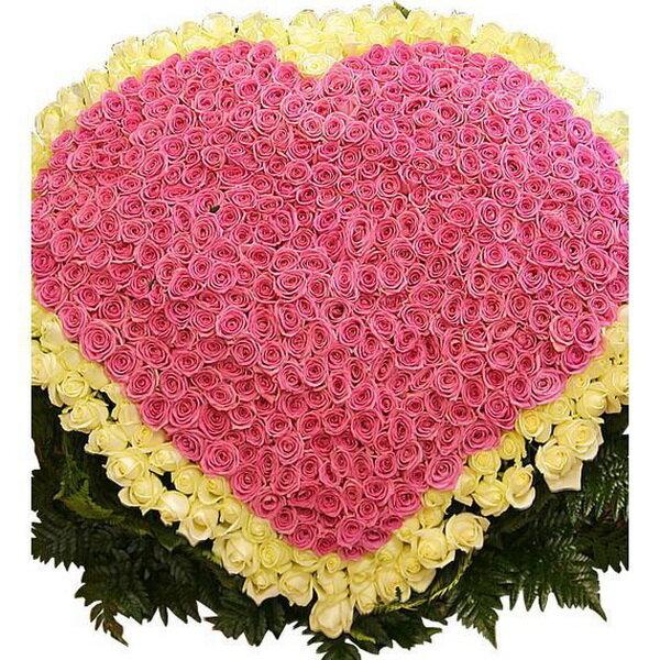 картинки сердца из больших букетов цветов самых