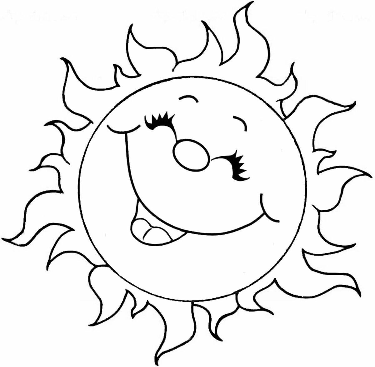 картинка для раскрашивания солнце статья медитации людей