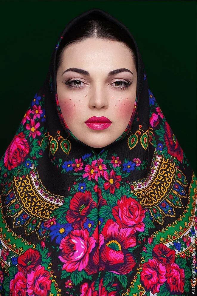 Русский макияж картинки
