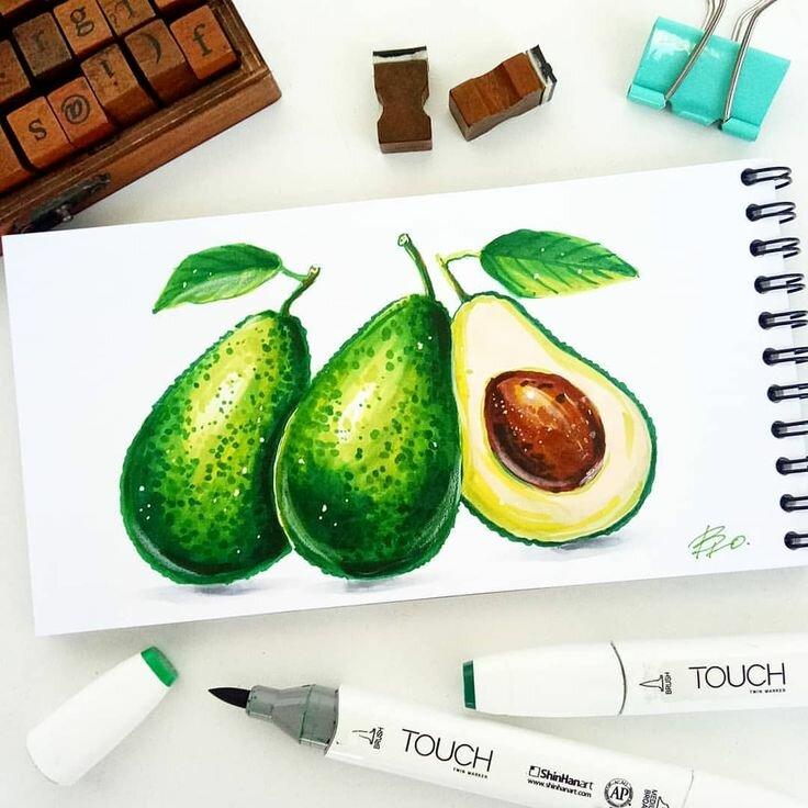 Красивые картинки спиртовыми маркерами