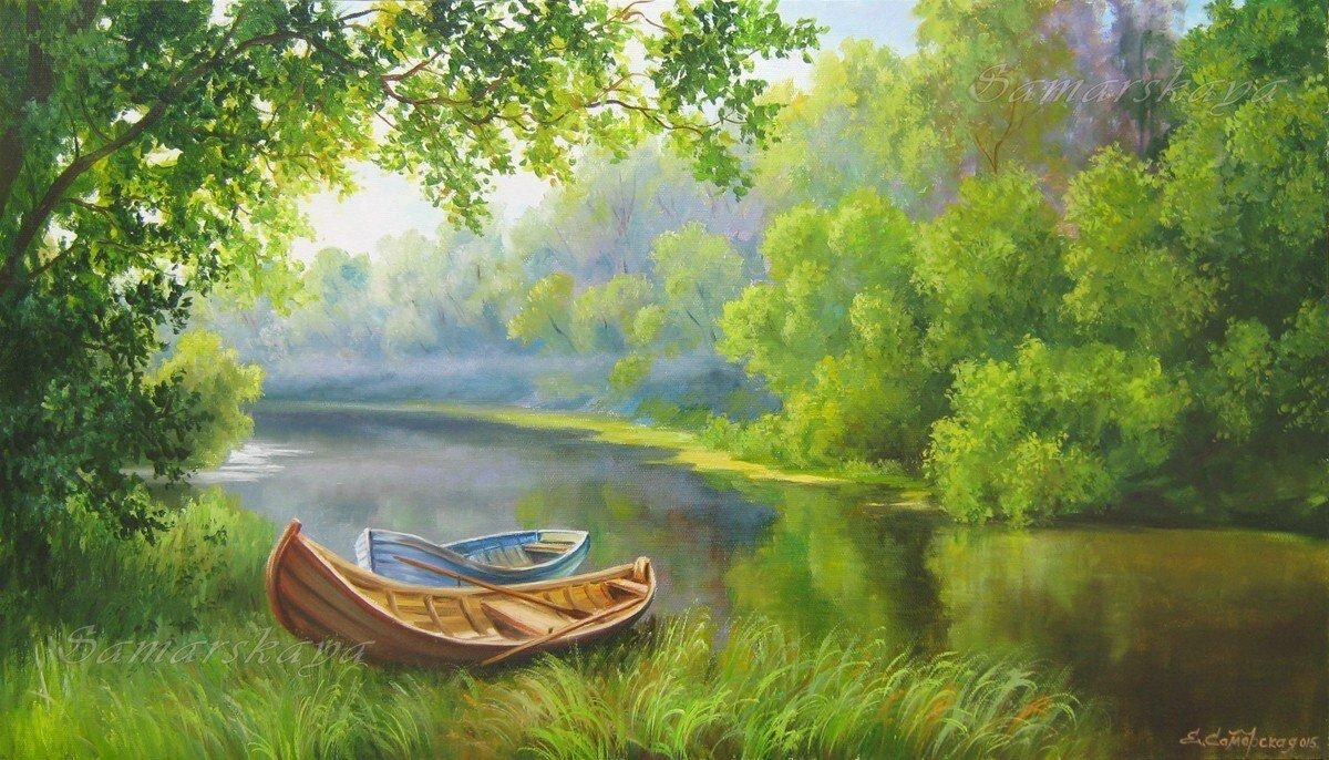 Картинки художников лето у воды