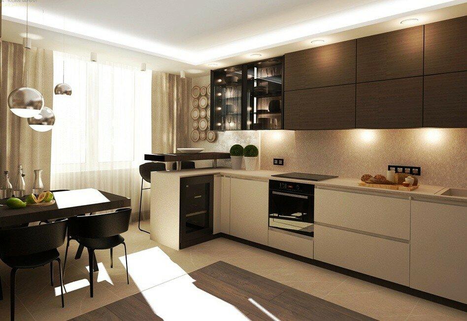 Кухни картинки дизайн интерьера в квартире угловые