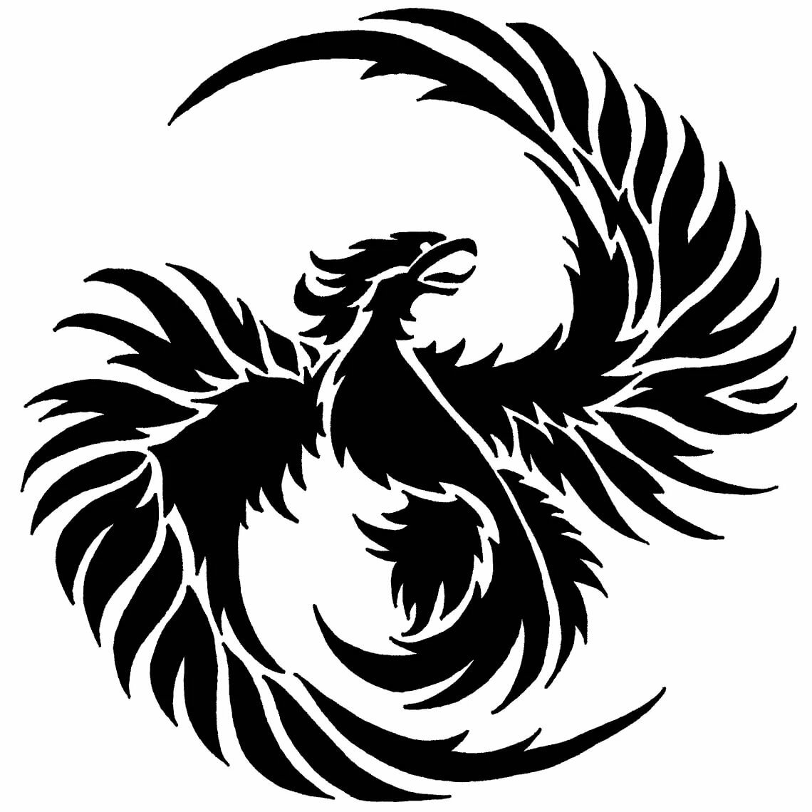 потрясающего птица феникс картинка в векторе вам