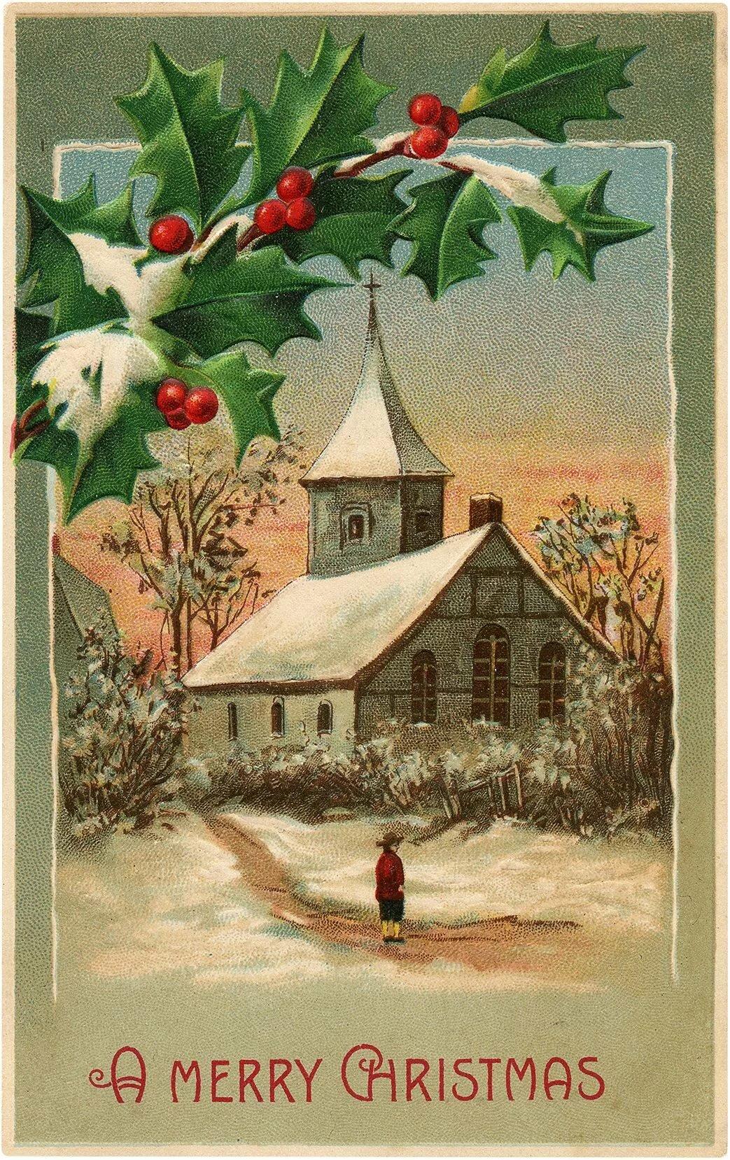 наступит рождество на старых русских открытках фриске последние