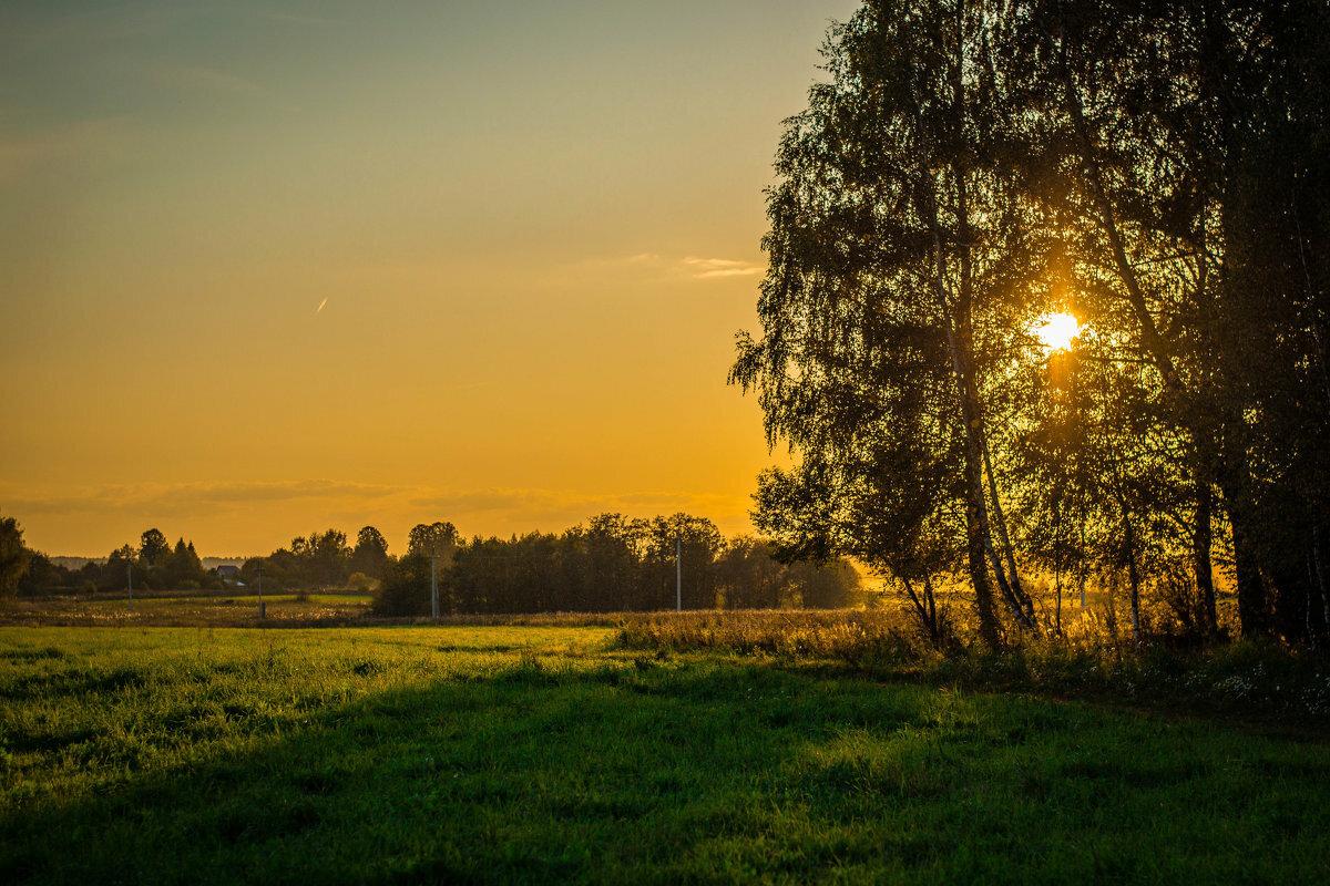 Картинки летний закат в деревне