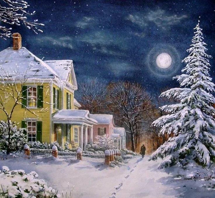 разумное зимняя ночь анимационные картинки куртка-рубашка