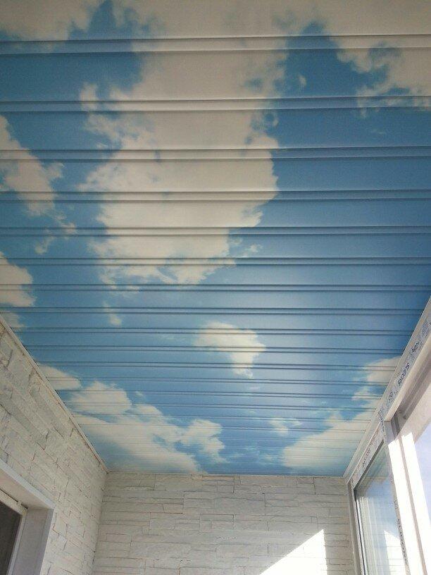 Реечный потолок №118
