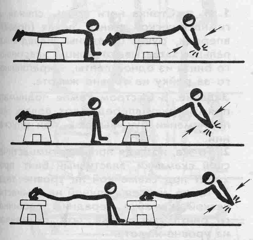 Упражнения со скамьей картинки