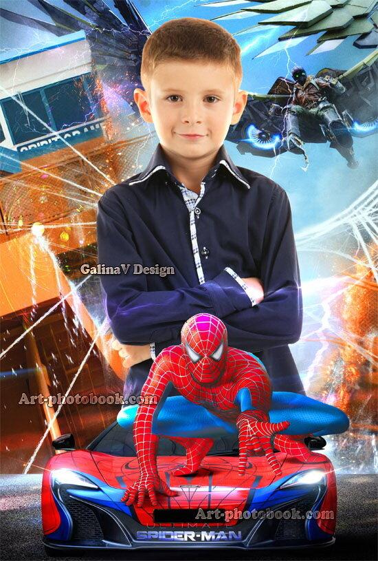 макет фотокниги человек паук рода защита