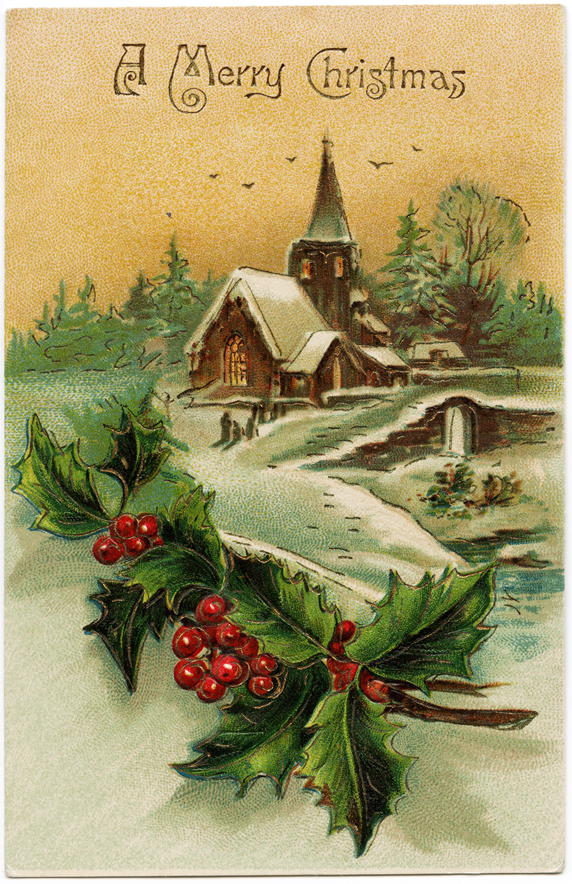 открытки к новому году старые немецкие