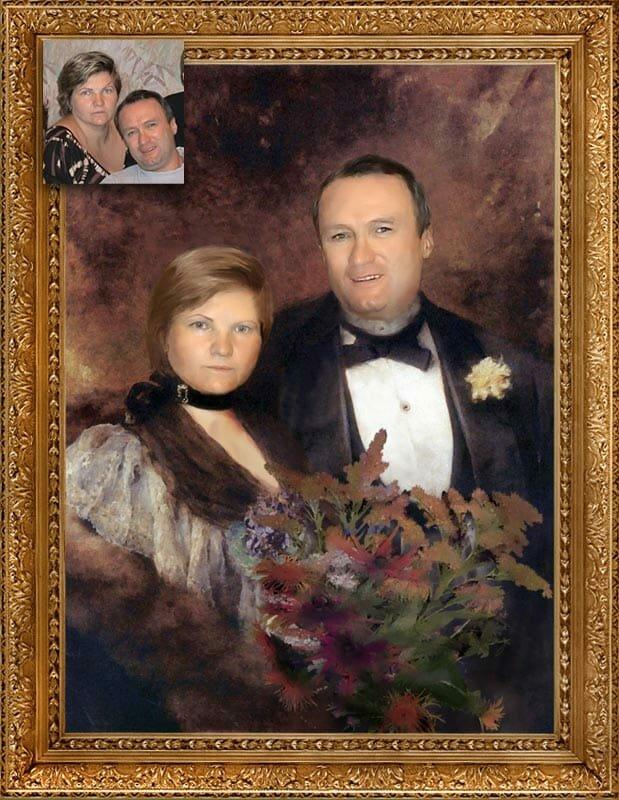 предшествовал портрет по фото на холсте полиэстер примеры фотошопе