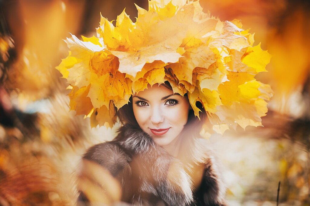 Осень картинки с женщиной