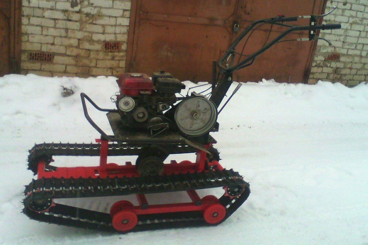 Мотобуксировщик или снегоход из мотоблока