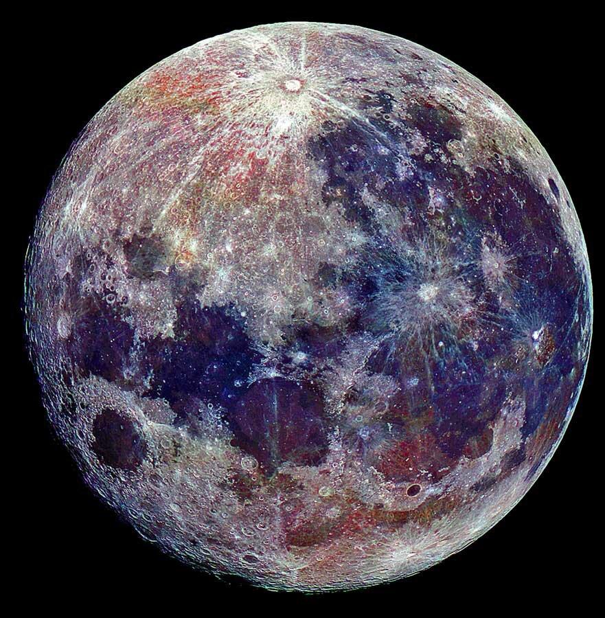 картинки луны цветной прически появились