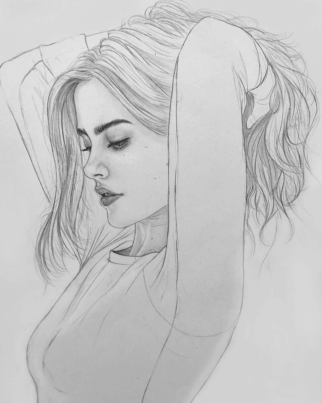 Красивые картинки на телефон для девушек рисунки карандашом для срисовки