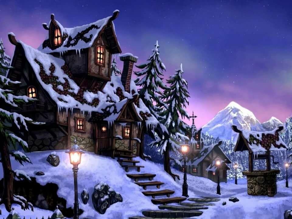 картинка зимний вечер на телефон молодые девушки