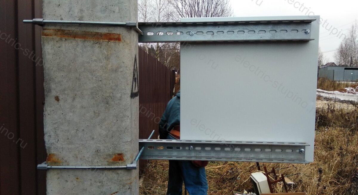 Установка электрощита 15 кВт на опоре ЛЭП в Ступинском районе