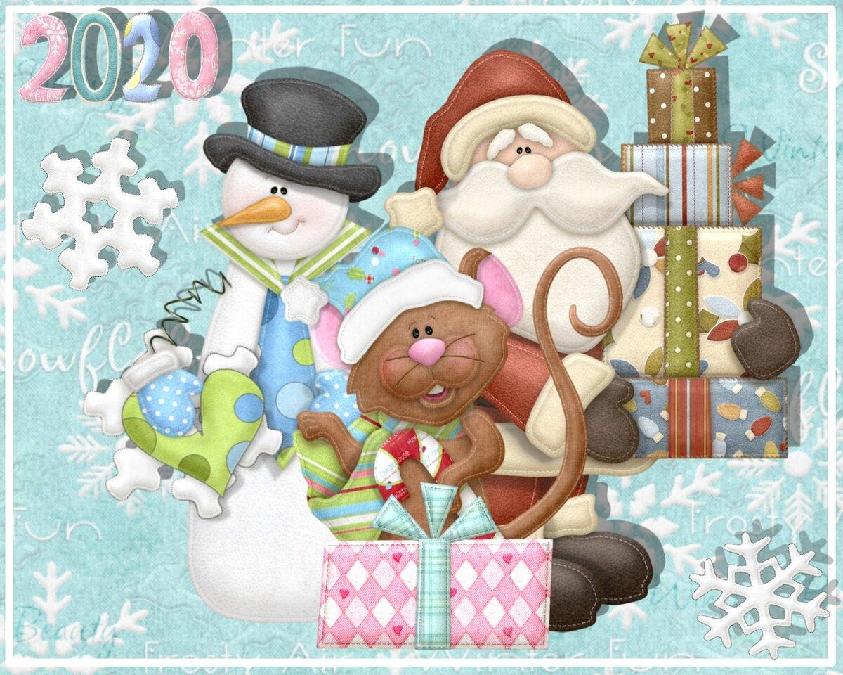 Новогодние открытка коллаж
